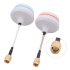 5.8G SMA Male Antenna Gains FPV Aerial Photo RC Airplane - White (Pair)