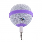 Roundness Style Portable Speaker for Iphone / Samsung / HTC / Motorola / Nokia - White + Purple