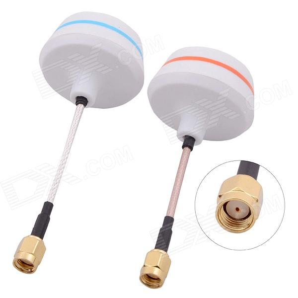 5.8G SMA Female Antenna Gains FPV Aerial Photo RC Airplane - White (Pair) b593 4ghz lte sma router antenna white