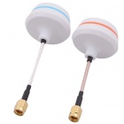 5.8G SMA Female Antenna Gains FPV Aerial Photo RC Airplane - White (Pair)