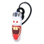 Ounuo Rabbit Pattern Bluetooth V3.0 Earbud Headset w/ Mic for Iphone 4 / 4s / 5 -  Multicolored