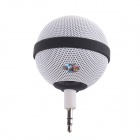 Roundness Style Portable Speaker for Iphone / Samsung / HTC / Motorola / Nokia - White + Black