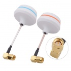 5.8G Right Angle SMA Male Antenna Gains FPV Aerial Photo RC Airplane - White (Pair)