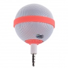 Roundness Style Portable Speaker for Iphone / Samsung / HTC / Motorola / Nokia - White + Pink