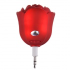 Rose Style Portable Speaker for Iphone / Samsung / HTC / Motorola / Nokia - Red