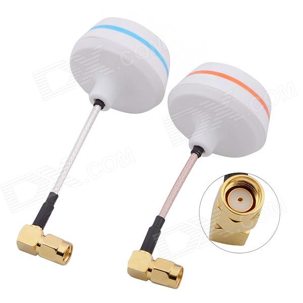 5.8G Right Angle SMA Female Antenna Gains FPV Aerial Photo RC Airplane - White (Pair) b593 4ghz lte sma router antenna white