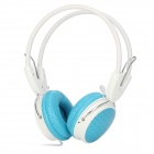 YongLe IP-806 Extra Bass Headband Stereo Wired Headphone w/ Microphone - Blue