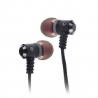 Jolly Roger E100 In-Ear Earphone for PC / MP3 / TV / CD / Phone - Black (3.5mm Plug / 119cm-Cable)
