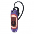 Ounuo Worm Pattern Bluetooth V3.0 Earbud Headset w/ Mic for Iphone 4 / 4s / 5 - Dark Purple