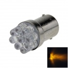 1157 / BAY15D 0.3W 40lm 9-LED Yellow Car Steering Light / Backup Light / Turn Lamp - (12V)
