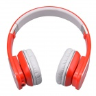 Jolly Roger M1 Stylish Headphone Headset w/ Microphone for PC / Laptop - Red + Silver