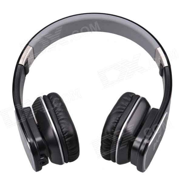 Jolly Roger M1 Stylish Headphone Headset w/ Microphone for PC / Laptop - Black + Silver g925 high quality gaming headset studio wire earphones computer stereo deep bass over ear headphone with microphone for pc gamer