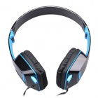 Jolly Roger M2 Stylish Headphone Headset w/ Microphone for PC / Laptop - Black + Blue