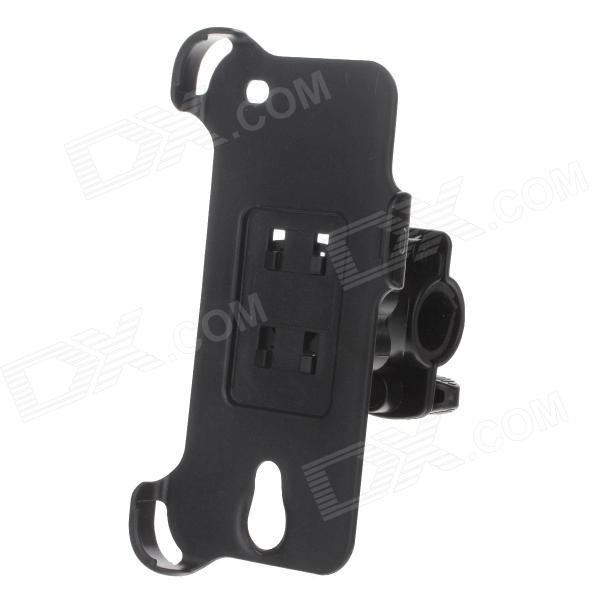 360 Degree Rotation Motorcycle Holder Bracket w/ Back Clamp for Samsung Galaxy Mega 6.3 i9200 -Black