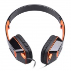 Jolly Roger M2 Stylish Headphone Headset w/ Microphone for PC / Laptop - Black + Orange