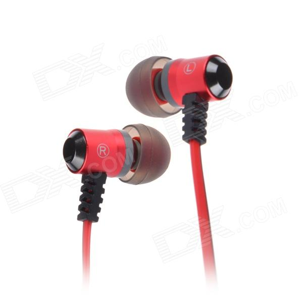 Jolly Roger E100 In-Ear Earphone for PC / MP3 / TV / CD / Phone - Red (3.5mm Plug / 119cm-Cable) e mu cd rom