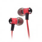 Jolly Roger E100 In-Ear Earphone for PC / MP3 / TV / CD / Phone - Red (3.5mm Plug / 119cm-Cable)