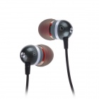 Jolly Roger E200 In-Ear Earphone for PC / MP3 / TV / Phone - Gray + Black (3.5mm Plug / 125cm-Cable)