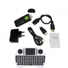 Ourspop U73 + i8 Air Mouse Dual-Core Android 4.2.2 Google TV Dongle w / 1 gt RAM / 8 gt ROM - EU-pistoke