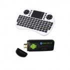 Ourspop U73 + i8 Air Mouse Dual-Core Android 4.2.2 Google TV Dongle w / 1GB RAM / 8GB ROM - EU-Stecker