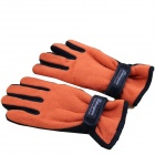 Women Wind-proof Cycling Gloves - Orange (Free Size)