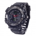 OHSEN AD1310 Men's Sport Analog + Digital Quartz Wrist Watch - Black + White (1 x CR-2025)