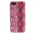 SAYOO 2414 Snakeskin Striation Protective PU Leather Back Case for Iphone 5C / 5s - Red