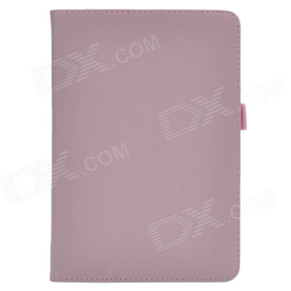 Lichee Pattern Protective PU Leather Case Cover Stand for Retina Ipad MINI - Pink devia fashionable cross pattern protective pu leather case cover stand for ipad air pink