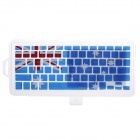 XSKN 799223332C06 Keyboard Protective Film Cover for  Apple Notebook MacBook - Blue + Red