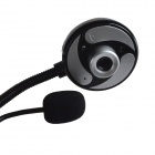 Primeira Vista K1 USB 2.0 8.0 MP Driverless Webcam w / Microfone / 3-LED Iluminado - Preto