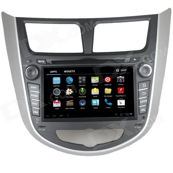 LsqSTAR 7 Android 4.0 Car DVD Player w/ GPS, TV, RDS,BT,PIP,SWC,3DUI,Wi-Fi for Verna Accent Solaris автомобильный dvd плеер lg 2 din 7 android dvd gps 508 tv 3g wifi bluetooth rds mp3 aux usb sd