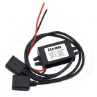 Buy Jtron 12V 5V DC-DC Reduction Voltage Power Adapter Dual USB Car Charger - Black