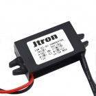 Jtron 12V to 5V DC-DC Reduction Voltage Power Adapter w/ Dual USB Car Charger - Black
