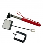 BZ 200LM 6-Fold Retractable Handheld Monopod for Gopro 3+ / SJ4000 / Universal Cameras / Phone - Red