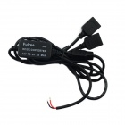 Jtron DC 12V to DC 5V 3A Reduction Voltage Module w/ Dual USB Female Port - Black