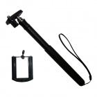 BZ 200L 6-Fold Retractable Handheld Monopod for Gopro 3+ / Universal Cameras / Cell Phone - Black