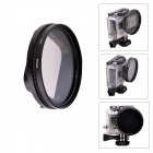 Fat Cat 58mm Converter + CPL Filter Circular Polarizer Lens Filter for Gopro Hero3 Housing - Black