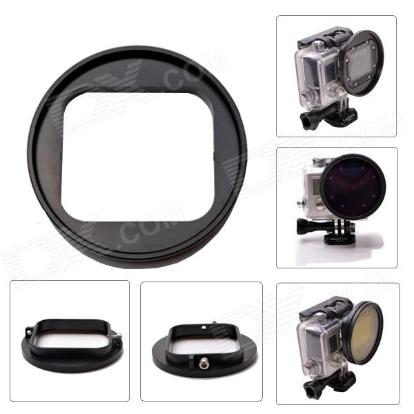 Fat Cat L-CH High Precision CNC Alloy Aluminum 58mm Lens Converter for GoPro Hero3 Housing - Black сумка baldinini baldinini ba097bwaexc1