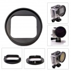 Fat Cat L-CH High Precision CNC Alloy Aluminum  58mm Lens Converter for GoPro Hero3 Housing - Black