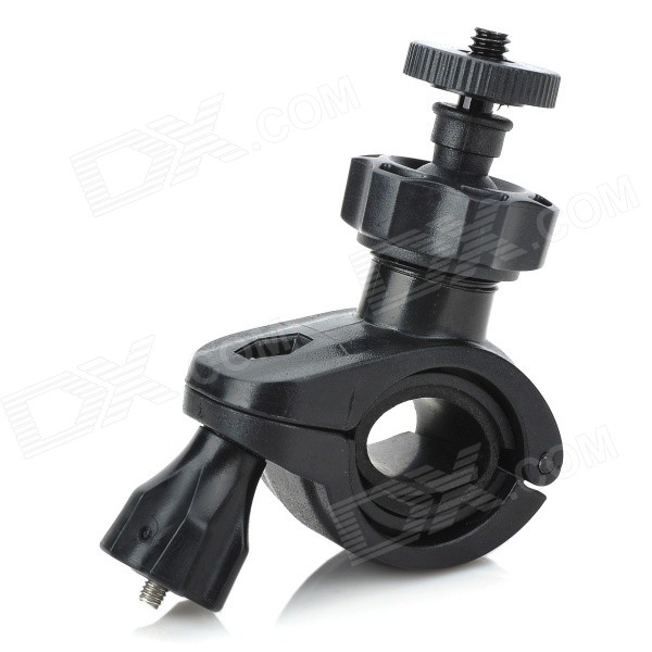 1 / 4 Car Motorcycle Bike Bicycle Plastic Mount Holder for DV / Camera - Black toz bike motorcycle handlebar seatpost mount holder w 1 4 screw for gopro sj4000 other dv