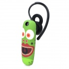 Ounuo Frog Pattern Bluetooth V3.0 Earbud Headset w/ Mic for Iphone 4 / 4s / 5 - Green + Multicolored