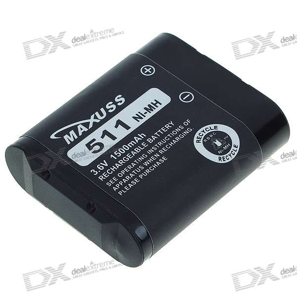 Replacement Battery 3.6V/650mAh for Cordless Phone (Panasonic 2216)