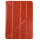 Stylish Flip Open Protective PU Leather Case Stand w/ Auto Sleep Cover for Ipad AIR - Brown