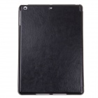 Stylish Flip Open Protective PU Leather Case Stand w/ Auto Sleep Cover for Ipad AIR - Black