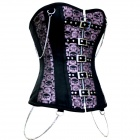 Stylish Sexy Beauty Corset with Chain - Purple + Black (Size-M)
