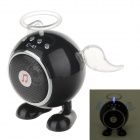 C-41 USB 2.0 Angel Style Mini Luminous Speaker w/ FM for Ipad / Laptop / MP3 / MP4 + More - Black
