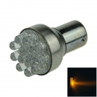 1156 / BA15S / P21W 0.5W 55lm 12-LED Yellow Car Steering Light / Backup Light / Turn Lamp - (12V)