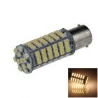 1156 / BA15S / P21W 4W 300lm 102 x SMD 1210 LED Warm White Car Backup Light / Signal Lamp - (12V)