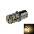 1156 / BA15S / P21W 3W 200lm 13 x SMD 5050 LED Warm White Car Signal Light / Steering Lamp - (12V)