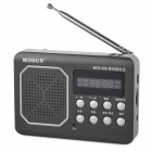 "MOSON 1.6"" Screen Digital FM Radio / MP3 Player w/ TF - Black + Silver"